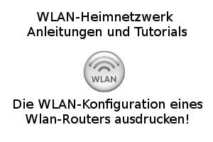 Die WLAN-Konfiguration eines FritzBox Wlan-Routers ausdrucken!