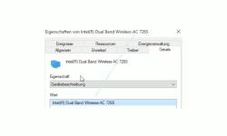 Windows 10 Netzwerk Tutorial - Den richtigen Treiber für deine Wlan-Netzwerkkarte finden! - Eigenschaften einer Wlan-Netzwerkkarte Register Details Bereich Eigenschaft