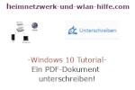 Windows 10 Tutorial - Ein PDF-Dokument unterschreiben!