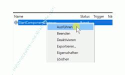 Windows 10 Tutorial - Hände weg vom WinSxS-Ordner - Eine Aufgabe in der Aufgabenplanung über das Kontextmenü der Aufgabe starten