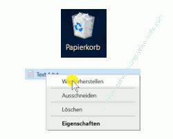 Windows 10 Tutorial - Dateien sicher und nicht wiederherstellbar mit Windows-Tool löschen - Eine Datei aus dem Papierkorb wiederherstellen
