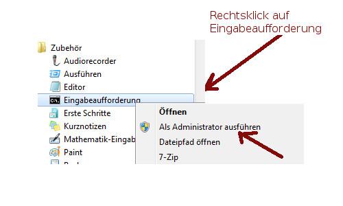 Netzwerk Tutorials: Ein sicheres Heimnetzwerk durch einen sicher konfigurierten Router - Windows 7 Eingabeaufforderung als Administrator öffnen