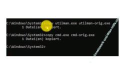 Windows 10 Tutorial - Windows Benutzerkonto gesperrt Passwort vergessen Kennwort hacken und Admin-Rechte erhalten! - Start von Windows 10 DVD Eingabeaufforderung Erstellen von Sicherheitskopien für Dateien über den Befehl copy