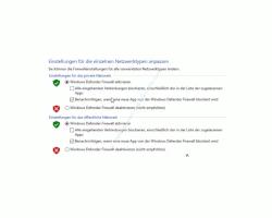 Windows 10 Tutorial - Mit dem Antivirenprogramm Windows Defender ein sicheres System konfigurieren! - Defender Einstellungen für die Netzwerktypen Privates Netzwerk und Öffentliches Netzwerk anpassen
