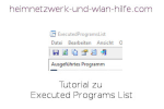 Tutorial zu Executed Programs List