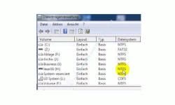 Datenträger von FAT 32 in das NTFS Format formatieren – NTFS-formatierter Datenträger in der Übersicht der Datenträgerverwaltung