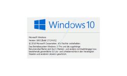 Tutorial - Versionsnummer der Windows 10 Installation anzeigen lassen – Fenster mit der Versions- und Bild-Nummer von Windows 10