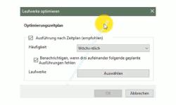 Schneller Festplatte durch Defragmentierung – Zeitplan für die automatische Defragmentierung einstellen