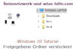 Windows 10  Tutorial - Freigegebene Ordner verstecken!
