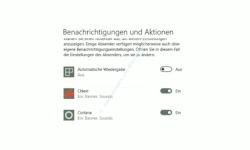 Windows 10 Tutorial - Die Anzahl der Nachrichten im Infocenter anpassen und reduzieren! - Konfiguration zum Ein- und Ausschalten für die Anzeige von Benachrichtigungen für jede einzelne Anwendung