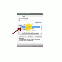 Eigenschaften Netzwerkverbindung - Datei- und Druckerfreigabe für Microsoft-Netzwerke aktivieren