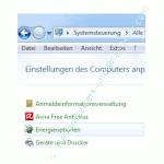 Windows Anleitungen und Tutorials: Reaktivierungskennwort des Windows 7 Ruhezustandes deaktivieren - Windows 7 Systemsteuerung Energieoptionen