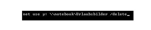 Schritt-für-Schritt-Anleitung: Netzwerkfreigaben mit dem Systembefehl Net Use einbinden - Netzlaufwerk einrichten - Kommandozeile-Systembefehl-net-use-delete