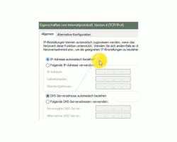 Windows 10 Netzwerk Tutorial - Problem: Kein Zugriff auf den Router möglich! – Eine IP-Adresse auf automatischen Empfang der IP-Adresse konfigurieren – IP-Adresse-automatisch beziehen