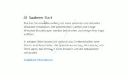 Windows 10 Tutorial - Mit dem Antivirenprogramm Windows Defender ein sicheres System konfigurieren! - Konfiguration Sauberer Start für eine gesäuberte neue Windows 10 Installation