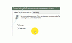 Windows 10 Tutorial - Den Super-Admin Modus freischalten - Konfigurationsfenster der Richtline Administratorgenehmigungsmodus für das integrierte Administratorkonto