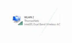 Windows 10 Netzwerk-Tutorial - Die automatische Einwahl in Wlan-Netzwerke verhindern! - Konfigurationsfenster Netzwerkverbindungen – Eine aktive Wlan-Netzwerkverbindung
