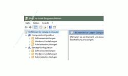 Windows 10 Tutorial - Den Sperrbildschirm abschalten bzw. deaktivieren - Konfigurationsfenster Richtlinien für lokaler Computer