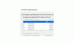 Windows 10 Tutorial - Die Auslagerungsdatei pagefile.sys für ein schnelleres System verschieben! - Konfigurationsfenster Virtueller Arbeitsspeicher