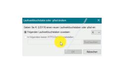 Windows 10 Tutorial - So änderst du Laufwerksbuchstaben und nutzt die Datenträgerverwaltung zum individuellen Konfigurieren von Laufwerken! - Konfigurationsfenster Laufwerksbuchstabe und -pfade ändern Option Folgenden Laufwerksbuchstaben zuweisen