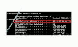 Netzwerk-Tutorial: MAC-Adresse der Netzwerkkarte herausfinden - Cmd - MAC-Adresse