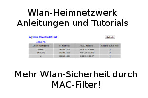Mehr Wlan-Netzwerksicherheit durch MAC-Filter