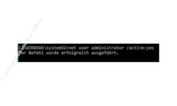 Windows 10 Tutorial - Das versteckte Administratorkonto aktivieren! - Meldung, wenn das Benutzerkonto erfolgreich aktiviert wurde