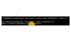 Windows 10 Netzwerk Tutorial - Wlan-Netzwerkeinstellungen ganz einfach auf einen anderen Computer übertragen! - Meldung, wenn ein Wlan-Profil erfolgreich exportiert wurde