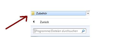 Netzwerk Tutorials: Ein sicheres Heimnetzwerk durch einen sicher konfigurierten Router - Windows 7 Programme - Menüpunkt Zubehör