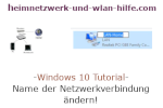 Windows 10 Tutorial - Name der Netzwerkverbindung ändern