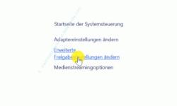 Windows 10 Tutorial - So aktivierst und speicherst du die Option: Kennwortgeschütztes Freigeben ausschalten! - Netzwerk und Internet, Link Erweiterte Freigabeeinstellungen ändern