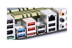 Netzwerkkartenanschluss am Mainboard