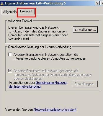 Windows Tutorial: Die Windows Firewall aktivieren oder deaktivieren! Netzwerkverbindung Register Erweitert