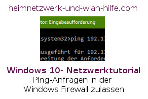 Ping-Anfragen in der Windows Firewall zulassen