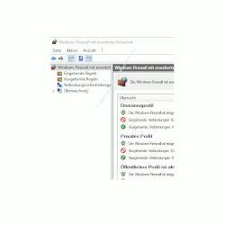 Ping-Anfragen in der Windows Firewall zulassen – Das Konfigurationsfenster  Windows-Firewall mit erweiterter Sicherheit