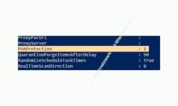 Windows 10 Tutorial - Den Schutz vor unerwünschten Anwendungen ( PUA - Potentially Unwanted Applications) aktivieren! - PowerShell Anzeige, dass der PUA-Schutz PUAProtection aktiviert ist