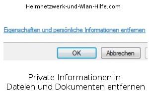 Private Informationen in Dateien und Dokumenten entfernen!