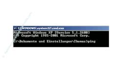 Problem im Netzwerk: Keine Netzwerkverbindung - Netzwerkverbindung mit Ping testen  -  Cmd Befehl Ping