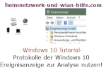 Protokolle der Windows 10 Ereignisanzeige zur Problemlösung nutzen
