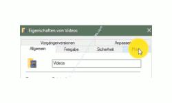 Windows 10 Tutorial - Ordner aus Benutzerverzeichnis verschieben – Register Pfad im Eigenschaftenfenster des Benutzerordners Videos