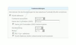 Netzwerk-Anleitung: Ausstrahlung des Wlan-Netzwerknamens verhindern!  Menü Einstellungen WLAN Fenster Funkeinstellungen
