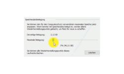 Windows 10 Tutorial - Das Erstellen von Systemsicherungen / Systemwiederherstellungspunkten aktivieren! - Speicherplatzbelegung: Den Speicherplatz für die Erstellung von Systemwiederherstellungspunkten festlegen