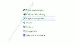 Windows Anleitungen: Die Windows 7 Sprachenleiste wieder aktivieren - Windows 7 Systemsteuerung - Region und Sprache