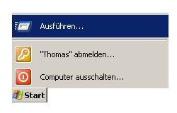 Anleitung: Windows Benutzerkonto löschen unter Windows XP Vista - Start Ausführen