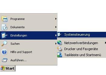 Netzwerk-Anleitung: Windows-Passwort auf Passwortrücksetzungsdiskette sichern! Start, Einstellungen, Systemsteuerung