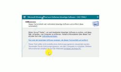 Windows 10 Tutorial - Einen Microsoft Removal Tool Sicherheitsscan immer mit einer aktuellen Version durchführen! - Startansicht des Sicherheitsscans mit einer aktuellen Version des Microsoft Removal Tool