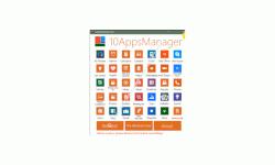 Windows 10 Anwendungs-Tutorial - Nicht löschbare Apps mit dem Tool 10AppsManager löschen - Startansicht von dem Tool 10AppsManager