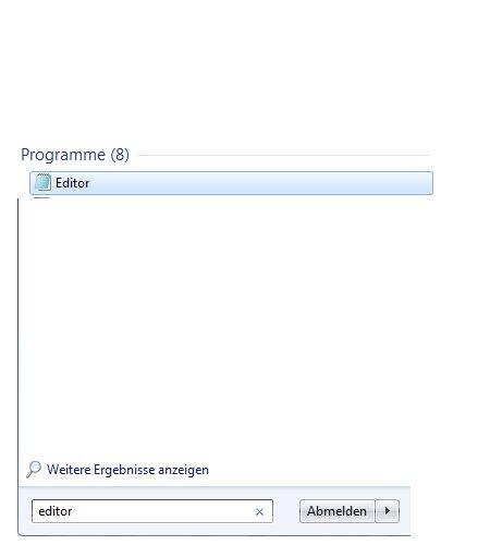 Heimnetzwerk Tutorial: Netzwerkverbindung per Doppelklick beenden oder starten - Suche nach Editor von Windows 7