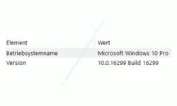 Systeminformationen anzeigen lassen – Anzeige der Betriebssystemversion