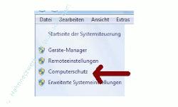 Windows 7 System über einen Systemwiederherstellungspunkt reparieren - Link Computerschutz